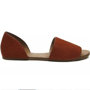 Madewell Thea Sandal in Embossed Leather - Lava